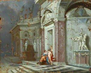 Jupiter and Alkmene in an Architectural Setting