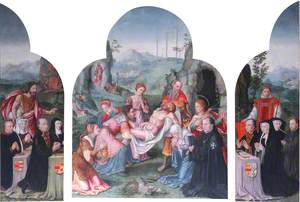 The Deposition with Donors and Saints