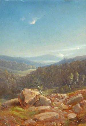 Wooded Landscape with Rocks