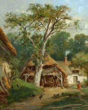 Farm Buildings among Trees