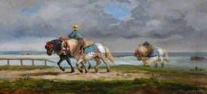 Horses Towing a Boat along a River (Chevaux de halage)