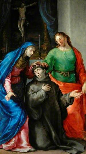 Our Lady and St John the Evangelist Crowning St John of God with Thorns