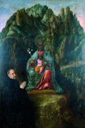 The Virgin of Montserrat with a Donor