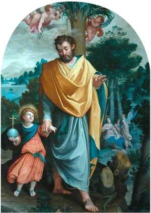 St Joseph Leading the Infant Christ