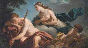 Diana and Endymion, Allegory of Fidelity (dessus de porte)