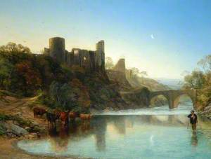 A Relic of Old Times (Barnard Castle, County Durham from the River)