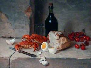 Still Life with Crabs and a Bottle