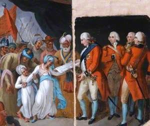 Lord Cornwallis Receiving the Sons of Tipu as Hostages