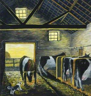 Cows in a Byre