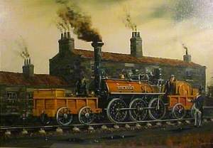 'Royal George' by Timothy Hackworth's Cottage