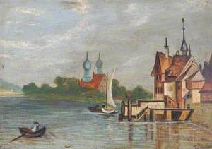 Lake Scene and Minarets