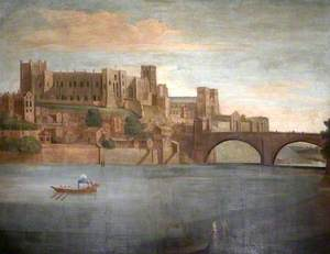 Durham Castle and Cathedral with Bishop's Barge