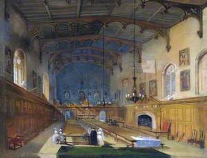 The Great Hall of Durham Castle, Facing South