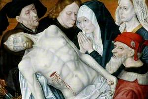 The Lamentation, the Dead Christ Supported by John the Baptist, Joseph of Arimathea, and Nicodemus with the Virgin Mary and Mary Magdalene