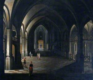 A Church Interior in Flanders