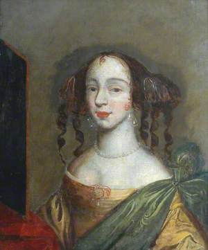 A Young Lady in a Dark Yellow Dress