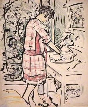 A Woman Washing