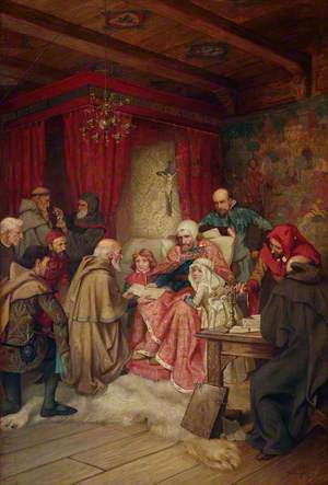 The Presentation of a Charter to the Burgesses of Edinburgh by King Robert the Bruce at Cardross, 1329