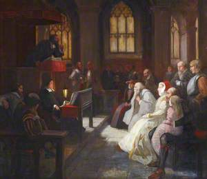 John Knox Preaching in St Giles Cathedral to a Congregation Comprising Mary, Queen of Scots and Other Noble Personages