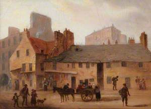 Nine Views of the Old Town of Edinburgh: Foot of West Port