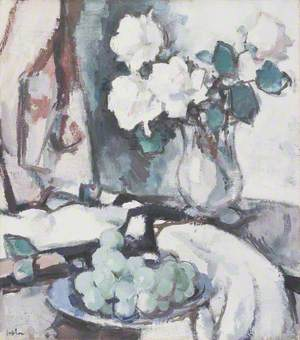 White Roses and Grapes