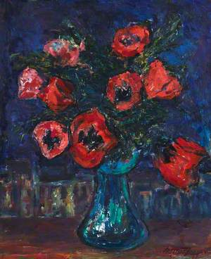 Poppies against a Night Sky