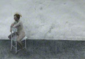 Seated Nude on White Chair*