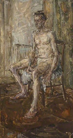 Portrait Sitting Nude Male