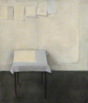 Composition with Table and String of Paper