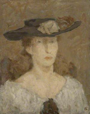 Portrait of a Woman in a Brimmed Hat