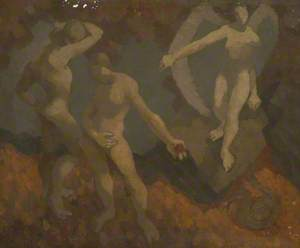 Adam, Eve, Serpent and Angel