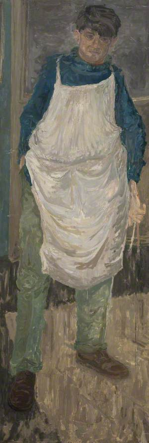 Self Portrait in White Apron
