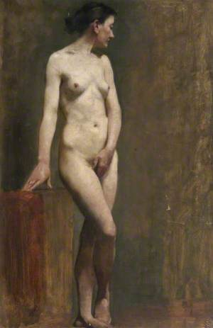 Standing Female Nude in 'Venus Pudica' Pose