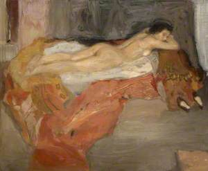 Nude Reclining on Bed