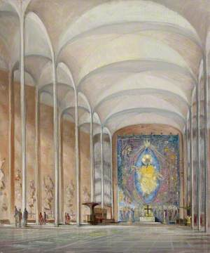 Coventry Cathedral, Interior Perspective