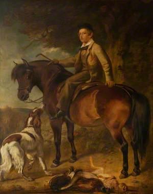 Boy on a Pony with a Dog