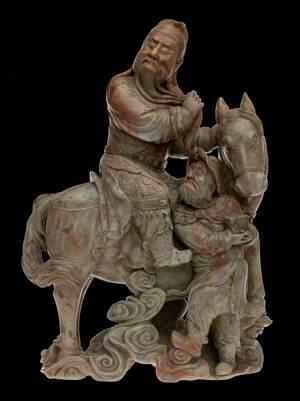 Guandi on Horseback with his Attendant, Zhou Cang*