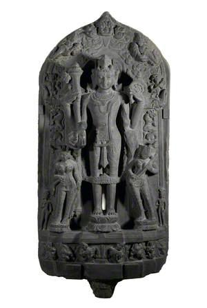Vishnu with Two Female Attendants*