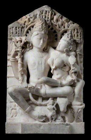 Shiva Holding Parvati*