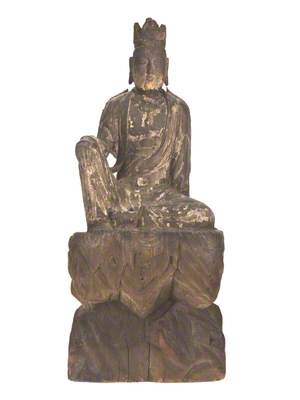 Guanyin Seated on Rock Pedestal*