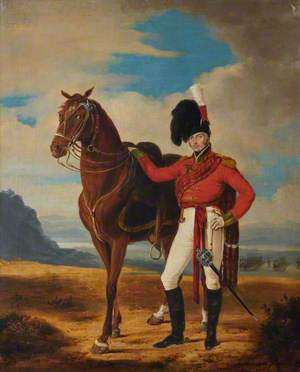 Field Officer of Highland Regiment with His Charger