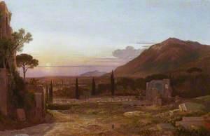 The Ruins of Hadrian's Villa, near Tivoli