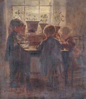 Three Children around a Table