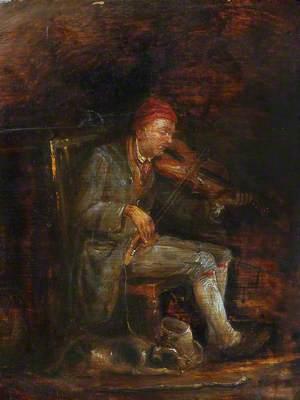 Study for 'The Blind Fiddler'