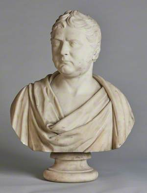 Bust of an Unidentified Man with Side Whiskers