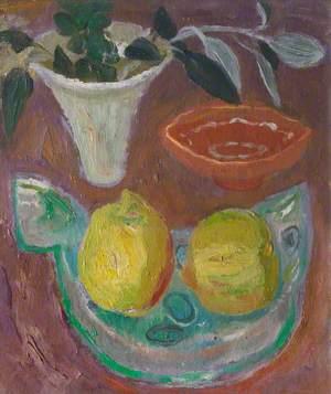 Still Life with Lemons and Fish Dish