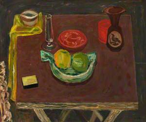 Still Life Objects on a Card Table