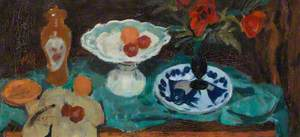 Still Life with Blue and White Plate