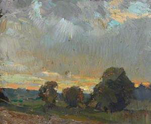 Landscape with Evening Sky