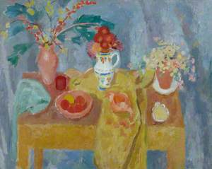 Still Life with Blue Background
